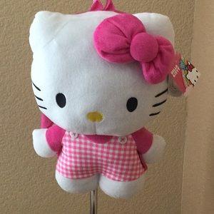 "Hello kitty plush backpack 14"""